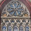 R is for Rose Window in the Rain